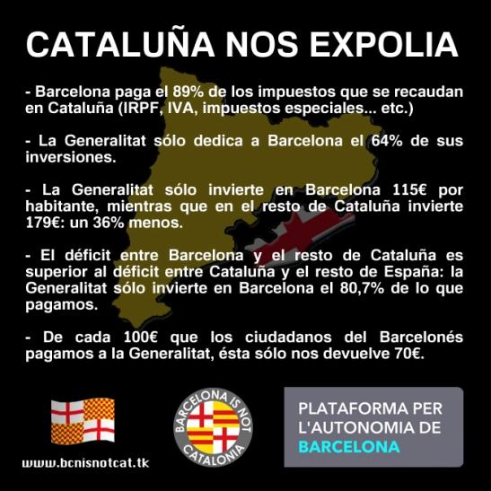 Cataluña nos expolia